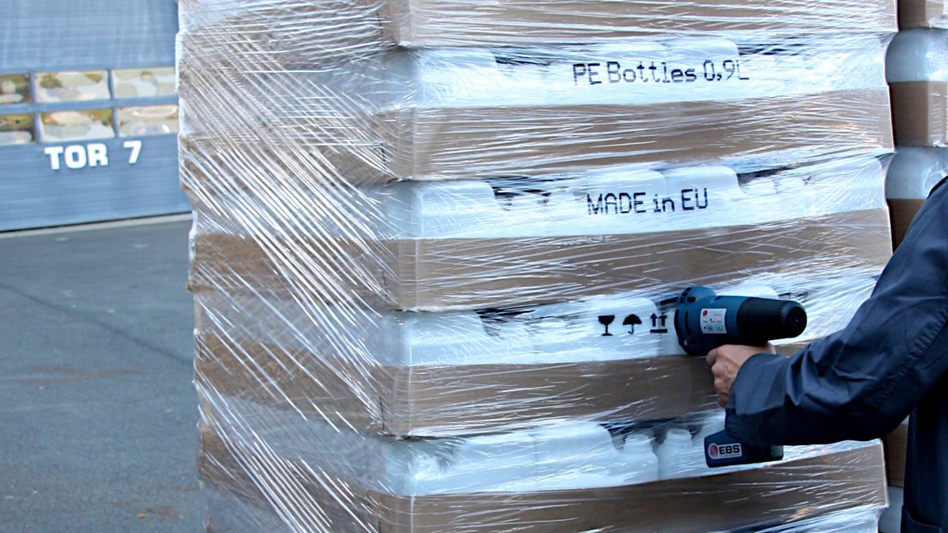 Sử dụng máy in Handjet EBS-250 trên vật liệu nilon